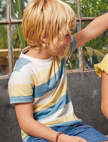 1f0f2765cd9ed Niño 3-12 años - Camiseta estampada a rayas - Kiabi