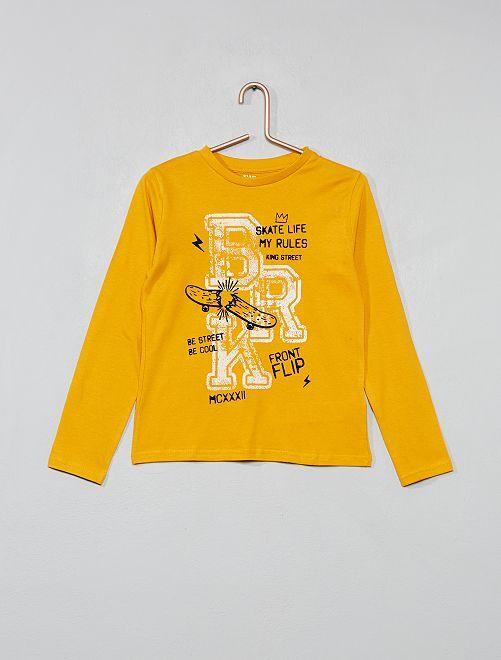 Camiseta estampada                             AMARILLO Chico
