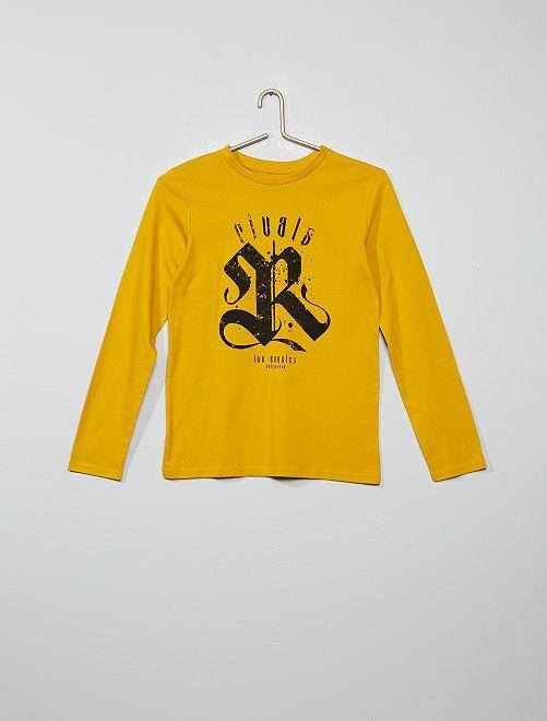 Camiseta estampada                                                                                                                                                                 AMARILLO