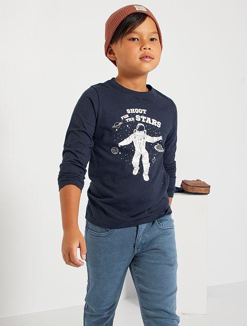 Camiseta estampada 'astronauta'                                                                                                                                                     AZUL