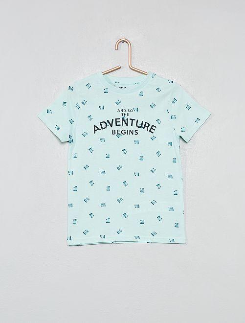 Camiseta estampada                                                                                         AZUL Chico