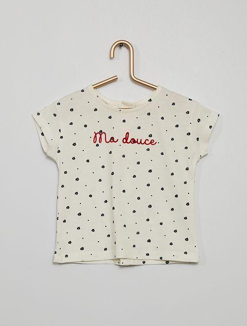 Camiseta estampada                                         AZUL flor