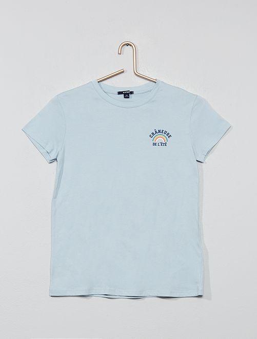 Camiseta estampada                                                                     AZUL Joven niña
