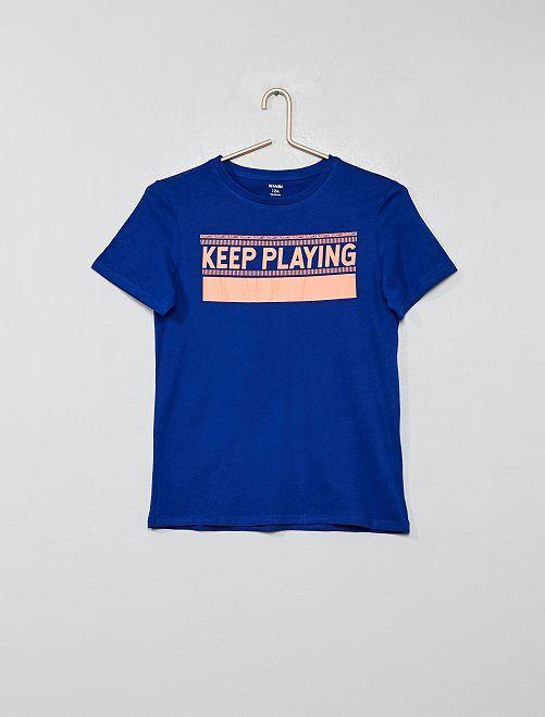 Camiseta estampada                                                         AZUL Joven niño