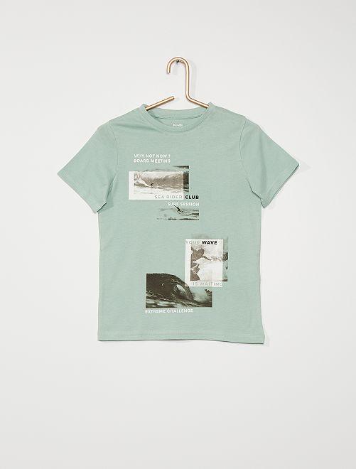 Camiseta estampada                                                                                                                                         AZUL