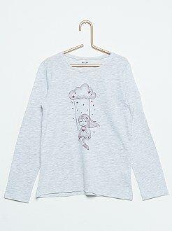 Camisetas - Camiseta estampada 'Balançoire dans les nuages'