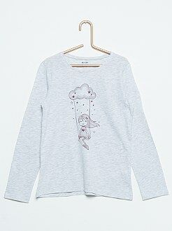 Camiseta estampada 'Balançoire dans les nuages'