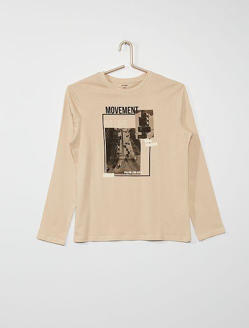 Camiseta estampada                                                                                                                                                                                         BEIGE