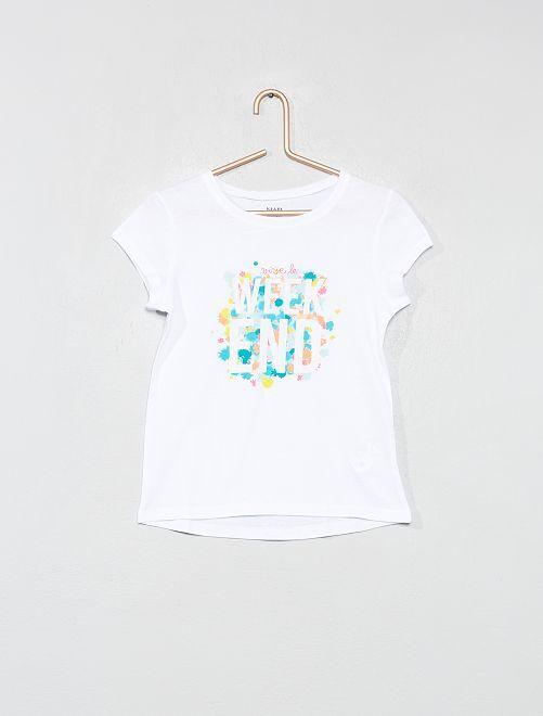 Camiseta estampada                                                                 BLANCO Chica