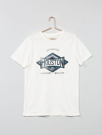 2aa349126 Niño 10-18 años - Camiseta estampada - Kiabi
