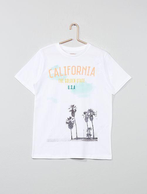 Camiseta estampada                                             BLANCO Joven niño