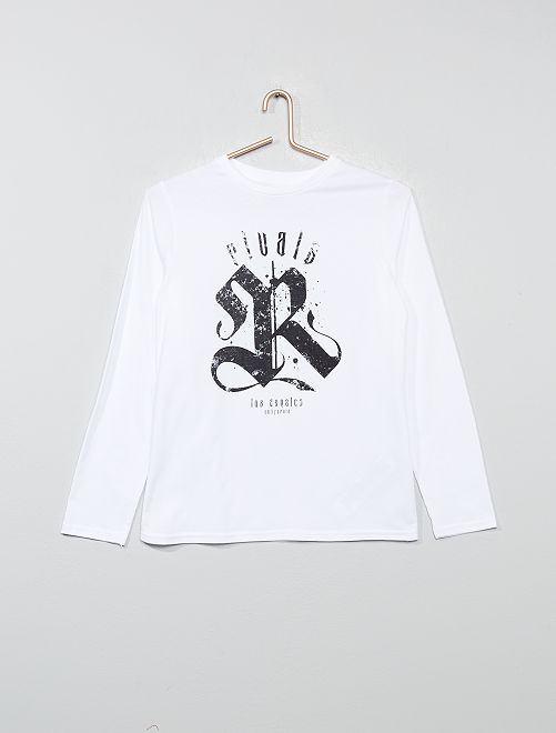 Camiseta estampada                                                                                                                                                         BLANCO