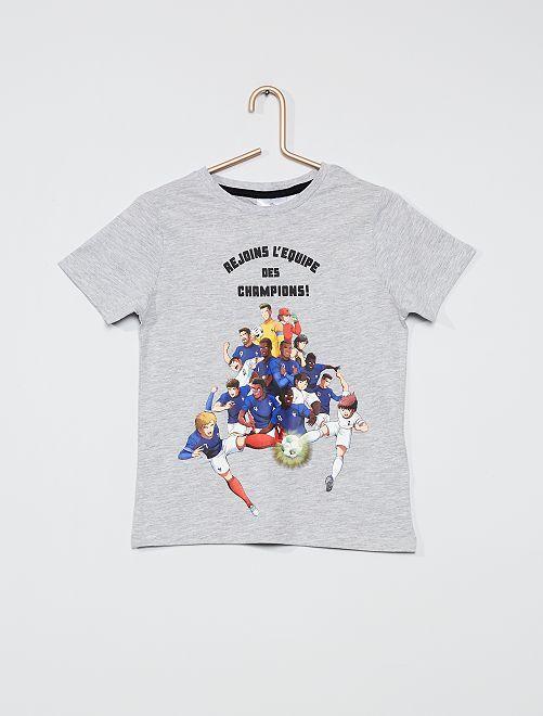 Camiseta estampada 'Captain Tsubasa'                                                     GRIS