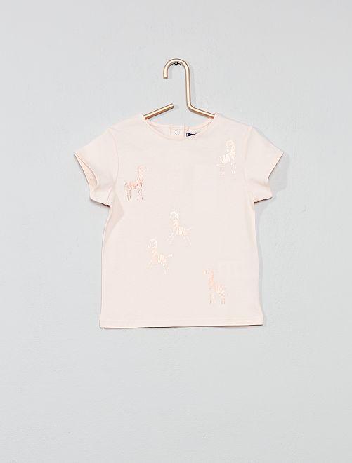 Camiseta estampada 'cebra'                             ROSA Bebé niña
