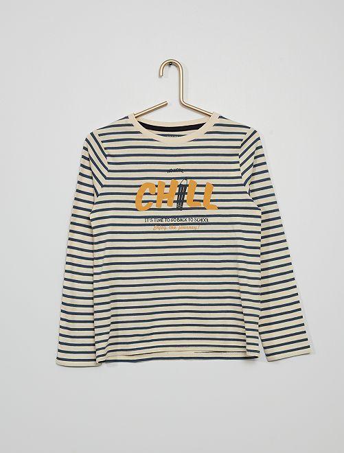 Camiseta estampada 'chill'                                                                                                                                                     AZUL