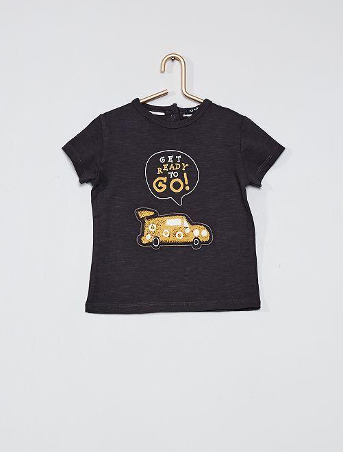 Camiseta estampada 'coche'                                 NEGRO