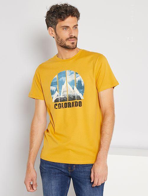 Camiseta estampada Colorado 'Produkt'                             AMARILLO