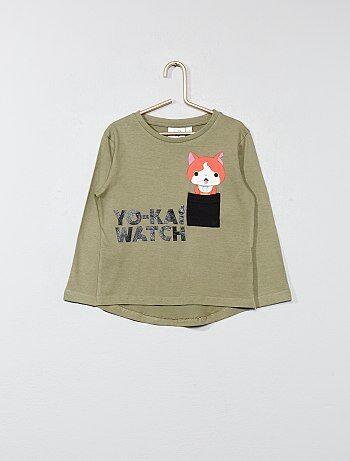 Niño 3-12 años - Camiseta estampada con bolsillo 'Yo-kai Watch' - Kiabi