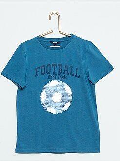 Camisetas, polos - Camiseta estampada con lentejuelas reversibles