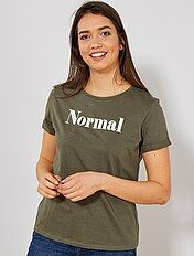 Camiseta estampada con mensaje