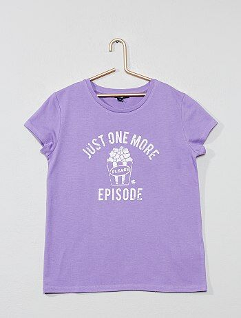 7604d4cbc42 Niña 10-18 años - Camiseta estampada con mensaje - Kiabi