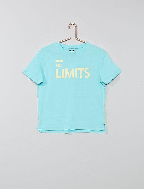 Camiseta estampada con relieve                                                                                         AZUL Chico