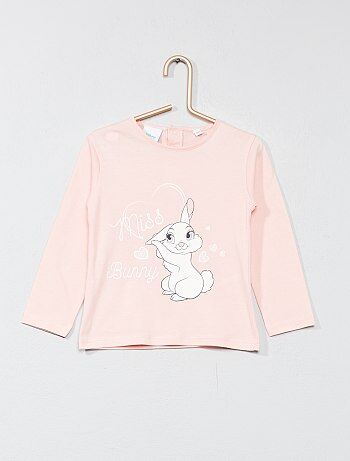 Niña 0-36 meses - Camiseta estampada 'Conejita' - Kiabi