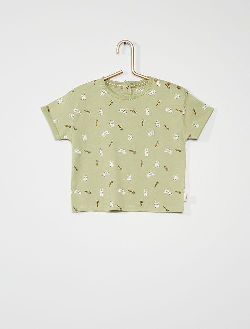 Camiseta estampada 'conejos'                                                                             VERDE