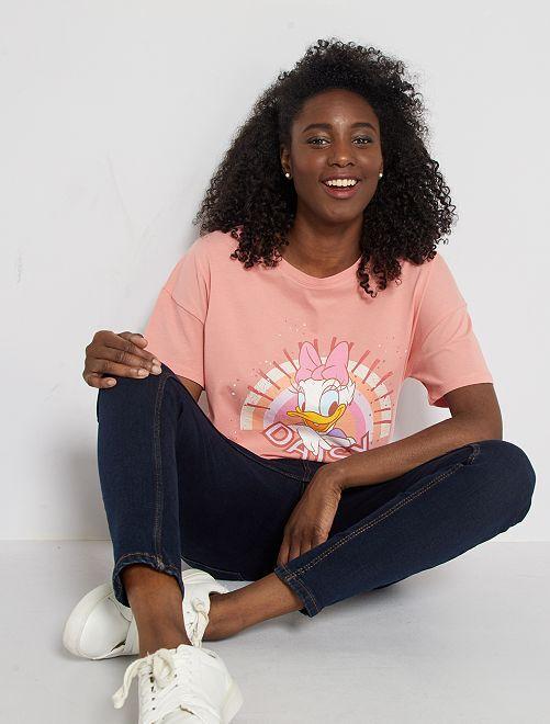 Camiseta estampada 'Daisy'                                                                                                                                                                             NARANJA