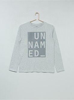 Niño 10-18 años Camiseta estampada de algodón de manga larga