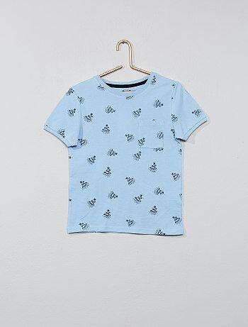 5091cfca4 Niño 3-12 años - Camiseta estampada de algodón de piqué - Kiabi