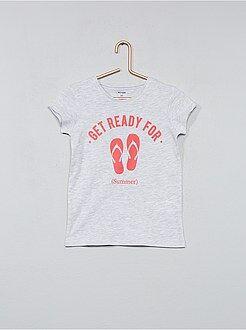 Camisetas - Camiseta estampada de algodón - Kiabi