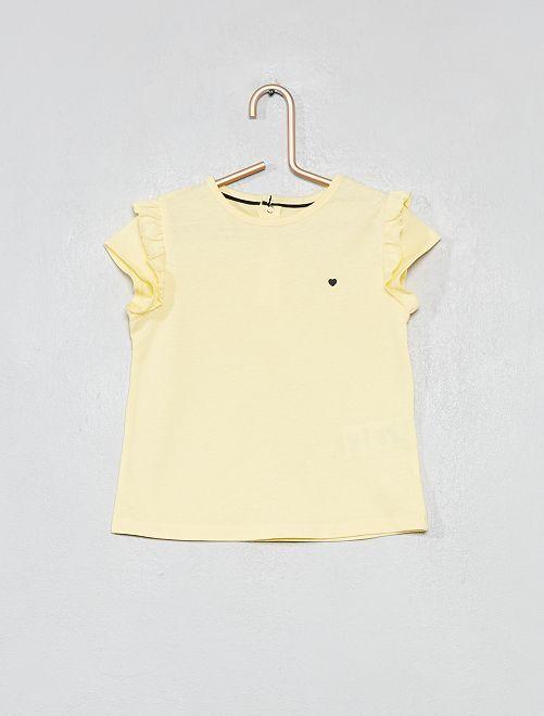 Camiseta estampada de algodón orgánico                                                                                                                 AMARILLO Bebé niña