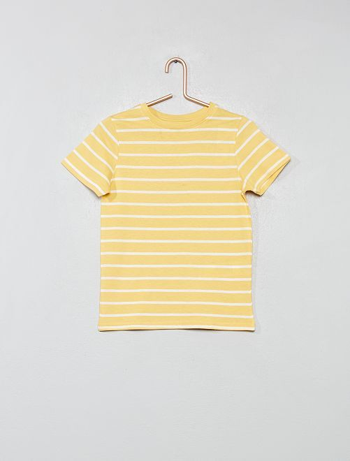Camiseta estampada de algodón orgánico                                 AMARILLO Chico