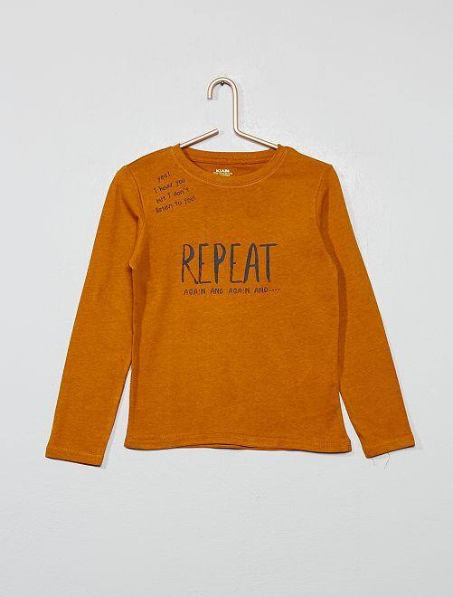 Camiseta estampada de algodón orgánico                                                                             AMARILLO