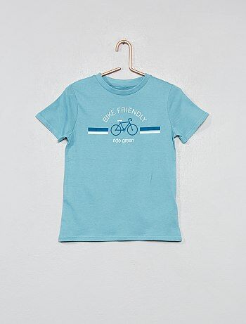 9a3e3372a Camiseta estampada de algodón orgánico - Kiabi