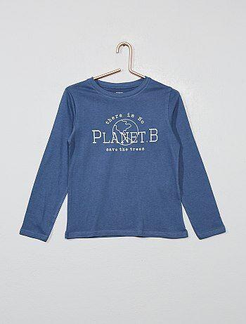 a70c418c8d20 Camiseta estampada de algodón orgánico - Kiabi