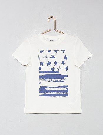 d4658d043 Camiseta estampada de algodón orgánico - Kiabi