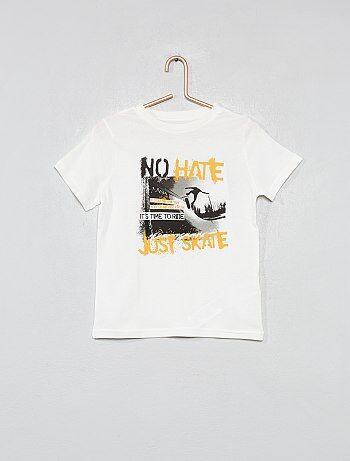 Niño 3-12 años - Camiseta estampada de algodón orgánico - Kiabi 6613e64b908