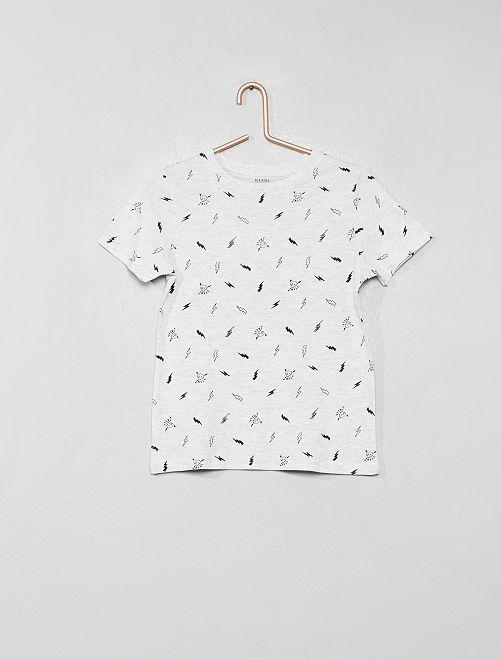 Camiseta estampada de algodón orgánico                                                                                         BLANCO Chico