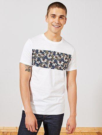 3f85306b1154 Hombre talla S-XXL - Camiseta estampada de algodón orgánico - Kiabi