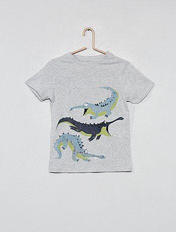Camiseta estampada de algodón orgánico - Kiabi 152f8d538b7