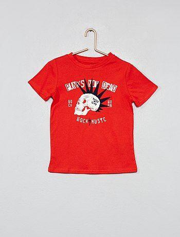 522011396 Camiseta estampada de algodón orgánico - Kiabi
