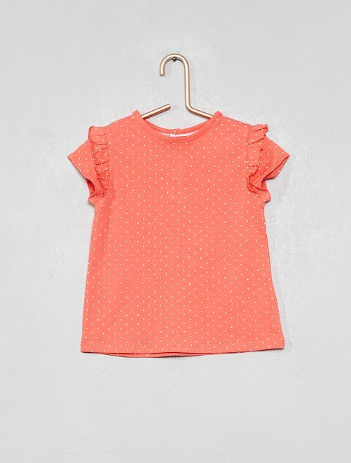 Camiseta estampada de algodón orgánico                                                                                                         ROSA Bebé niña