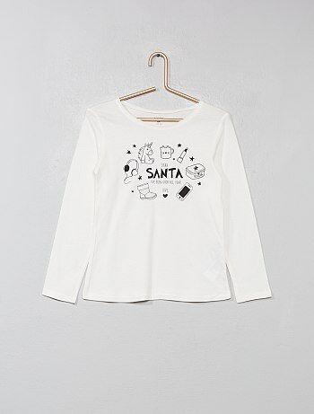Camiseta estampada de algodón puro - Kiabi