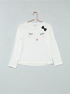 Camiseta estampada de algodón puro