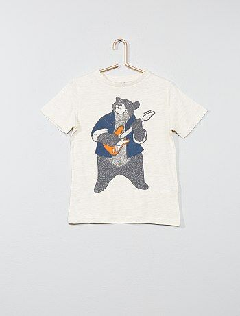 Niño 3-12 años - Camiseta estampada de algodón puro - Kiabi