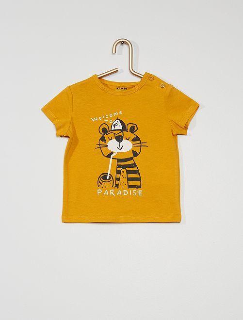 Camiseta estampada de manga corta                                                                                                                                                                             AMARILLO