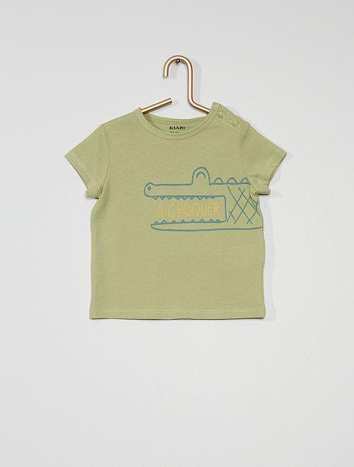 Camiseta estampada de manga corta                                                                                                                                                                 KAKI