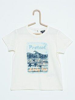 Niño 0-36 meses Camiseta estampada de manga corta 'Monstruitos'